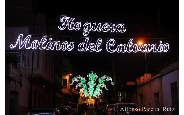 Праздничная программа в районе Hoguera Molinos del Calvario