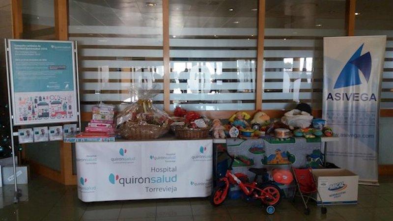 Больница Quironsalud в Торревьехе проводит благотворительную акцию для обездоленных детей